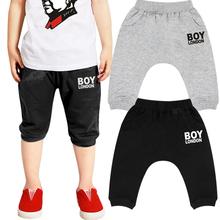 Bigbang Zhi-Long GD Inkigayo boy london Printed Kids Boys Girls Harem Pants 2015 Loose Casual Calf Length Pants For Boys Girls