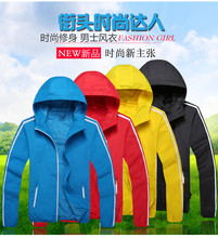 2016 thin coat dust coat youngsters are dust coat pure color(China (Mainland))