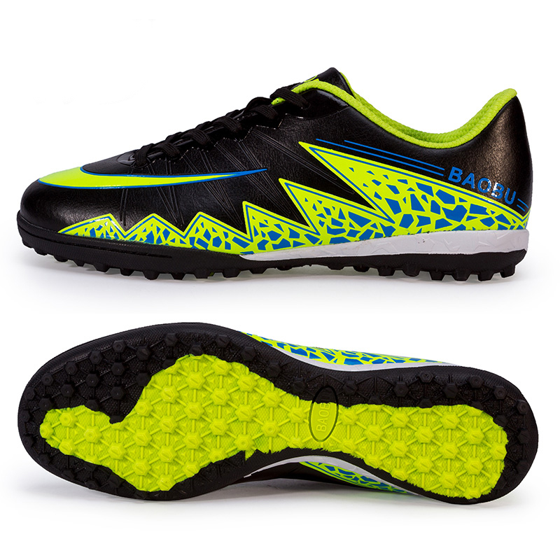Fashion New Men's Kids Soccer Indoor Shoes TF Turf Soccer Cleats Boy Football Trainers Sports Shoes All Size EU 33--44(China (Mainland))