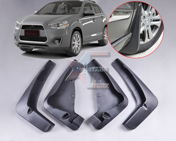 Tracking # New MUD FLAPS SPLASH GUARDS MUDGUARD for Mitsubishi ASX Outlander Sport 2010 2011 2012 2013 4pcs