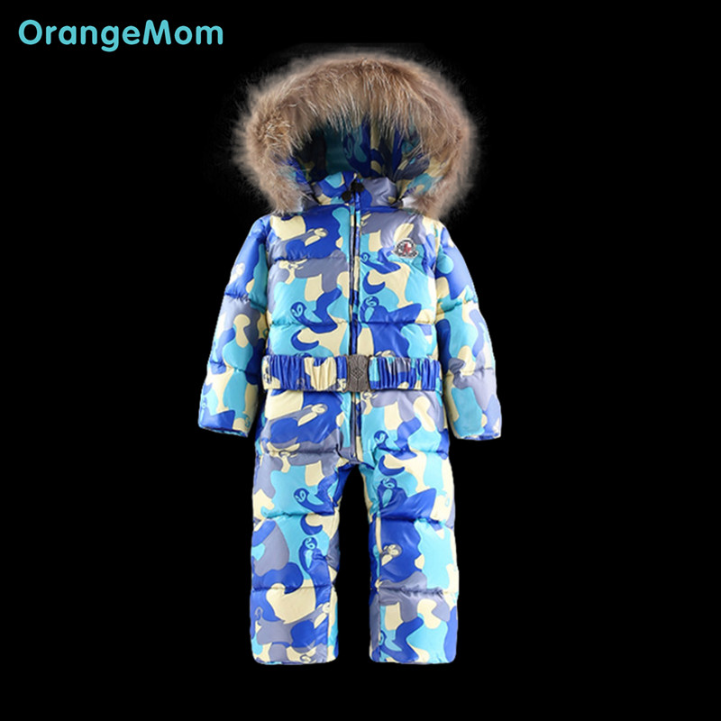 Fashion 2016 down jackets for children's winter costumes camo camouflage kids clothes children's clothes for boys girls clothes(China (Mainland))