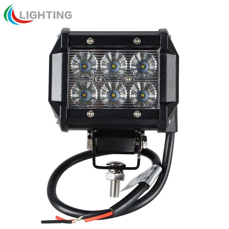 2 pcs 4 inch 18w cree led work light bar l for motorcycle tractor boat road 4wd truck suv
