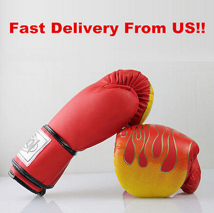 Professional PU Leather Fighting MMA Gloves Sanda Wushu Flame Boxing Gloves Breathable Equipment Training Fighting mma Gloves(China (Mainland))