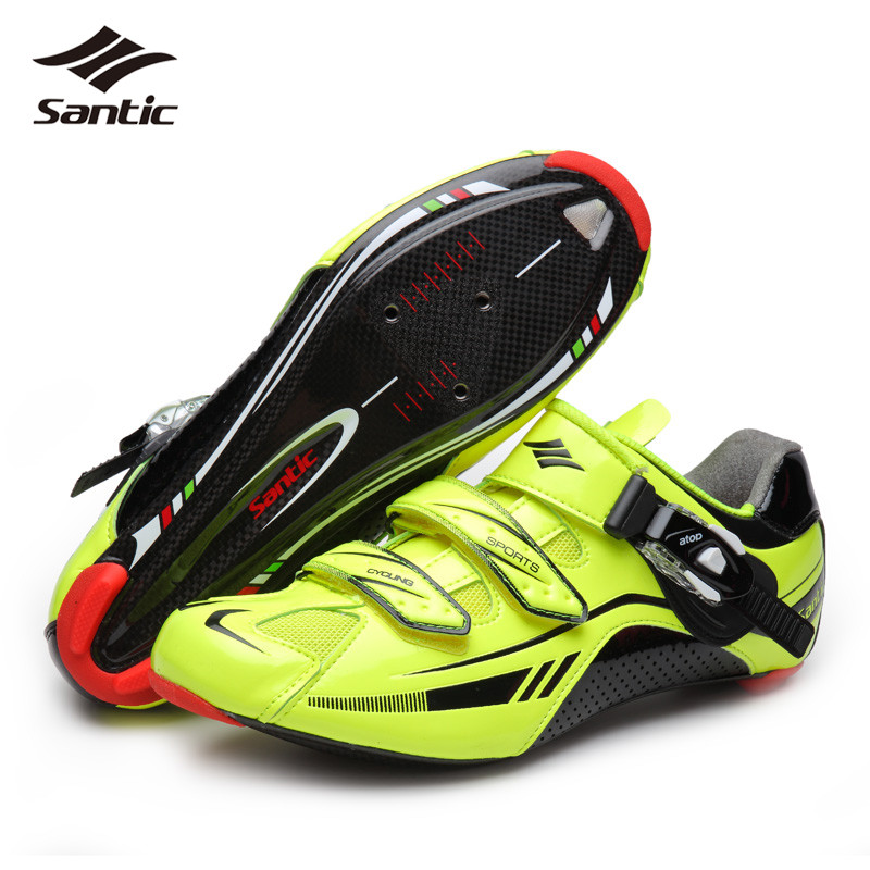 SANTIC Carbon Fiber Men Road <font><b>Cycling</b></font> <font><b>Shoes</b></font> Sport Scarpe <font><b>Shoes</b></font> Self-locking Racing Bicycle Bike <font><b>Shoes</b></font> Zapatillas Ciclismo