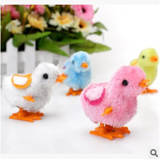 Free shipping 2015 new classic cute little toy stuffed chicken on China after 80 clockwork chick chicken childhood toy chain(China (Mainland))