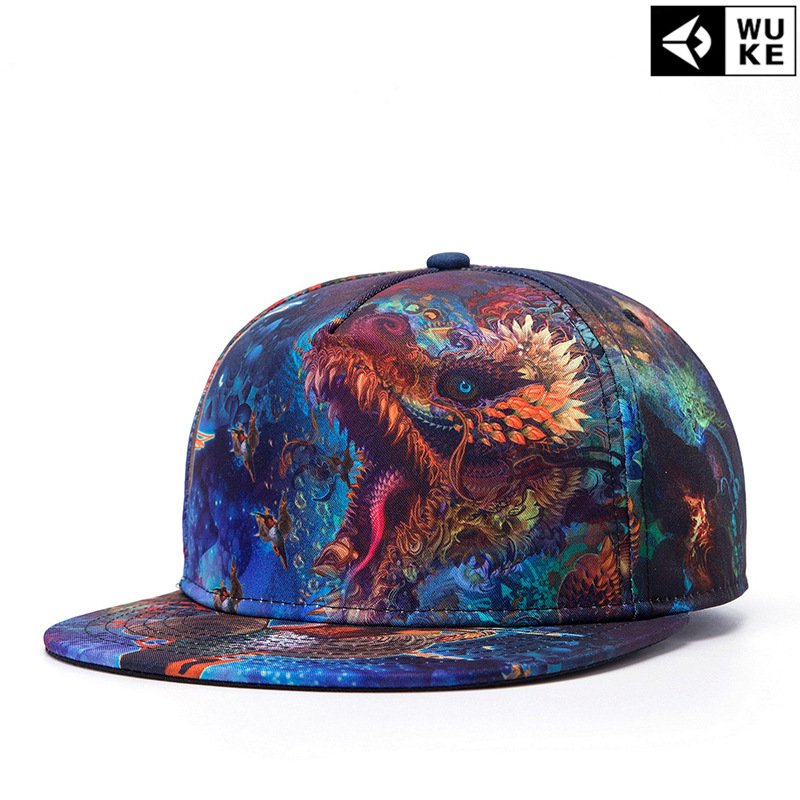 Vintage Hat Tattoos: Chinese Dragon Print Tattoo Hip Hop Cap Personality