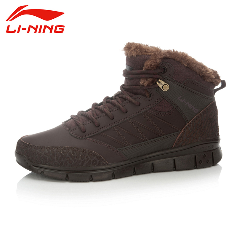 LI-NING Brand New Arrival FlyingIII Outdoor Sports Series High-top Walking Shoes Winter Warm Sneakers For Male AHCK015 XYD067<br><br>Aliexpress