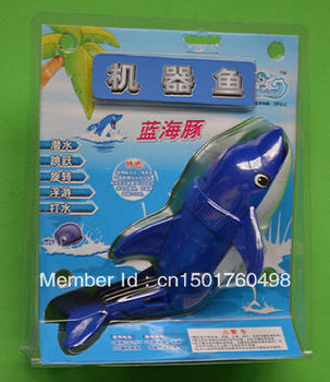 Christmas Gift Kids Electric toy Robot Dolphin (Blue) Swimming Toy Kids Submersible Fish toys robot fish Free Shipping