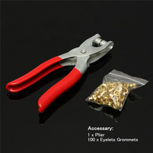 High Quality Brand New 100PCS Eyelets Grommets Setting Setter Pliers Kit for Bags Shoes Leather Belt(China (Mainland))