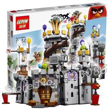 917pcs 2016 Bela The Birds Movie King Pig's Castle Building Model Toys Minifigures Games Action Figure Compatible With Lego