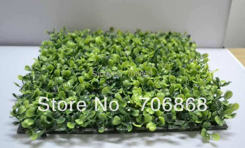 50 pieces 25c*25cm artificial plastic boxwood mat(China (Mainland))