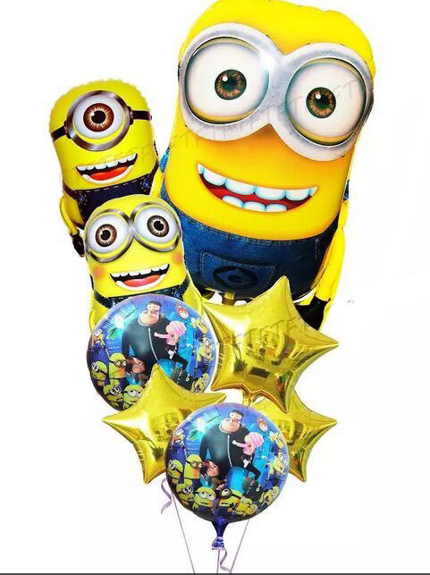 8pcs/lot Minions Balloons Classic Toys Christmas Birthday Despicable me balloon Decoration Party inflatable air balloon<br><br>Aliexpress