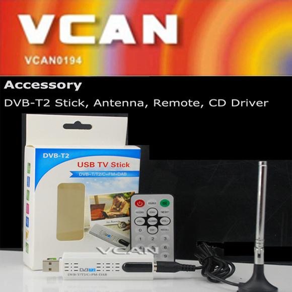 2015 Free shipping Popular USB DVB-T2 PC DTV receiver DVB-T2 DVB-T DVB-C SDR FM TV stick for PC/Laptop Windows(China (Mainland))