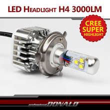 Upgrade!! Neu!! 1x2015 Nur Plug & Play CREE LED H4 H4-3 HB2 9003 30 Watt 3000LM weiße Hallo/Lo Conversion DRL Nebel Scheinwerfer(China (Mainland))