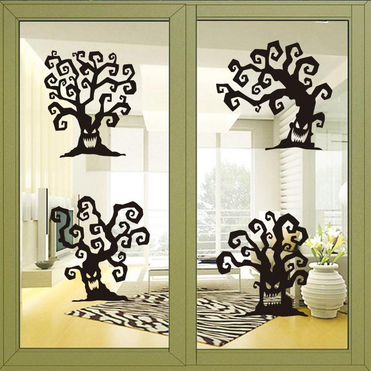 Halloween d coration arbre promotion achetez des halloween for Decoration maison horreur