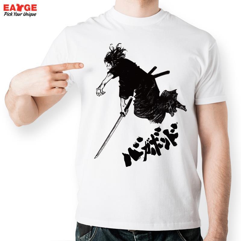Samurai Warrior From Vagabond T Shirt Design Blade Fashion Creative T-shirt Cool Casual Novelty Funny Tshirt Men Women Style Tee(China (Mainland))