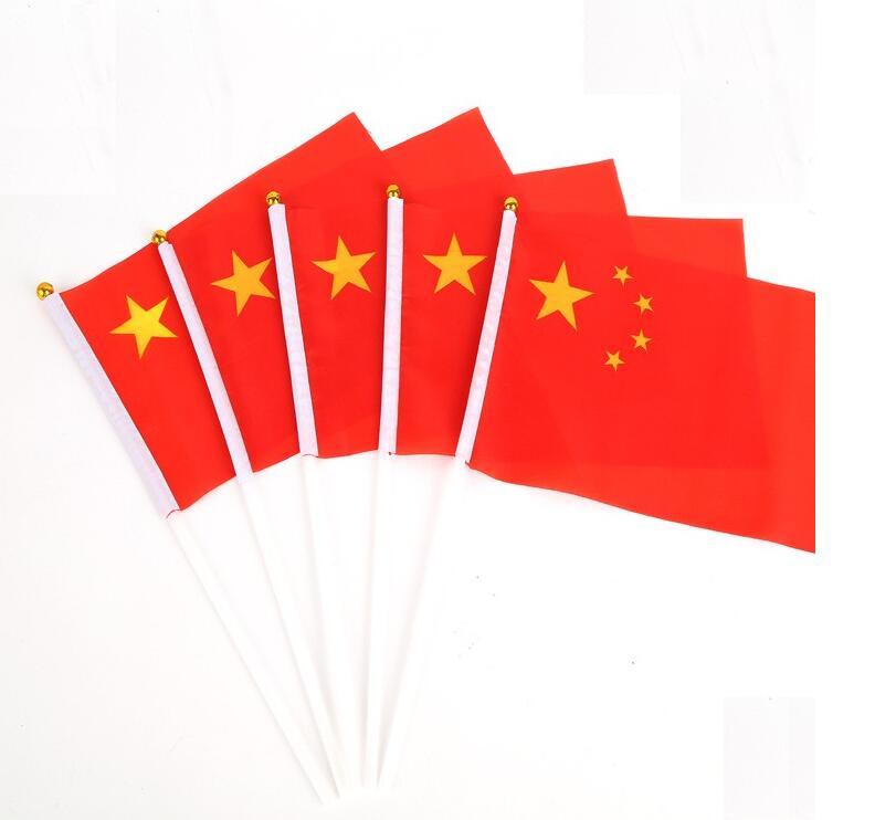 Free shipping 100pcs/lot 14 * 21 cm hand wave flags car flag Chinese flag of Ecuador banner(China (Mainland))