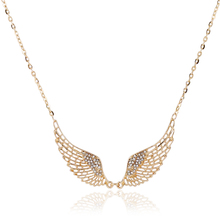 Buy Women Fashion Angel Wing Crystal Necklace Choker 2016 New Gold/Silver Plated Charming Maxi Pendant Necklace Collier Femme for $1.49 in AliExpress store