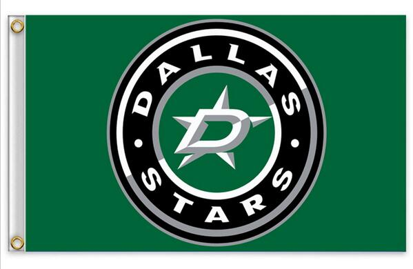 hot sell goods 3ft x 5ft Polyester Banner Flying 150* 90cm NHL National Hockey League Dallas Stars Flag(China (Mainland))