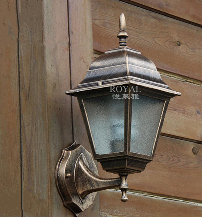 European outdoor / indoor waterproof wall lamps, 220v E27 villa decorated wall lamp, aluminum and glass, 18.5*15*34cm,arandelas<br><br>Aliexpress
