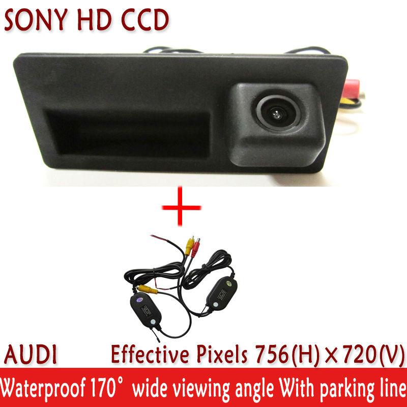 LED Night Vision Handle SONY HD CCD Car Rear View Camera Parking Assistance system Reverse Camera for Audi A4 A6 A8L S5 Q3 Q5(China (Mainland))