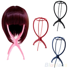 New Folding Plastic Stable Durable Wig Hair Hat Cap Holder Stand Display Tool  098A(China (Mainland))