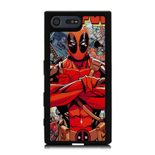 Buy Red Deadpool Cartoon Pattern Soft Rubber Phone Case Coque Sony Xperia X XZ X Compact Z5 Z5 Compact Hard Back Cover Shell for $4.58 in AliExpress store