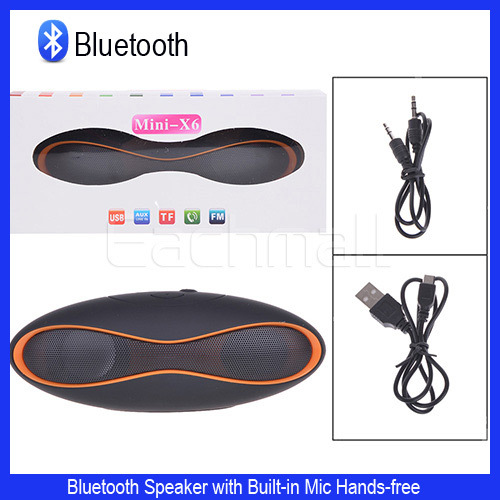 Bluetooth Speaker Mini-X6 QFX Portable Wireless TF AUX USB FM Radio with Mic New Mp3 Mobile Phone Mini Subwoofer(China (Mainland))