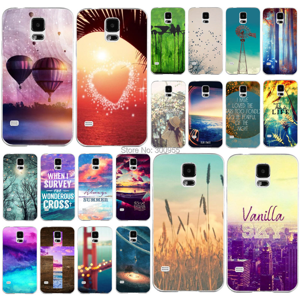 Free Shipping Back Case Skin For Samsung Galaxy S5 Nice View Paint Printed Phone Plastic Case WHD1198 21-40(China (Mainland))