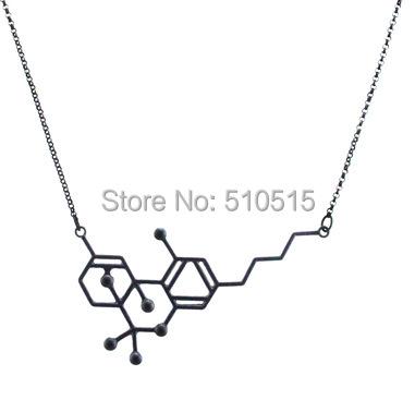 Hot Fashion THC Serotonin Molecule Pendant Necklace<br><br>Aliexpress