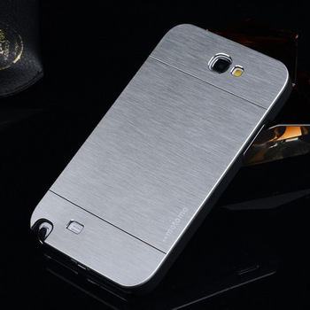 luxury note 2 metal case hybrid PC+aluminum back housing case cover for samsung galaxy note 2 note2 note ii N7100(China (Mainland))