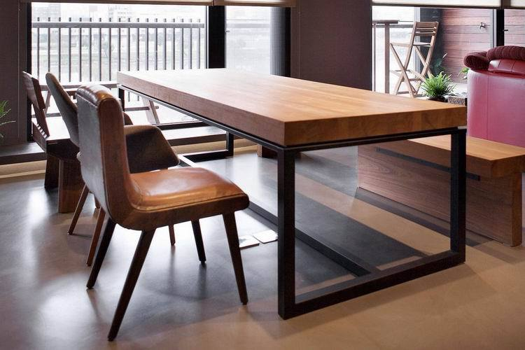 rectangular wood dining table dinette combination of solid