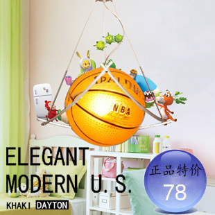 football basketball bedroom lamp brief fashion child lamp pendant light dia 35cm free shipping(China (Mainland))