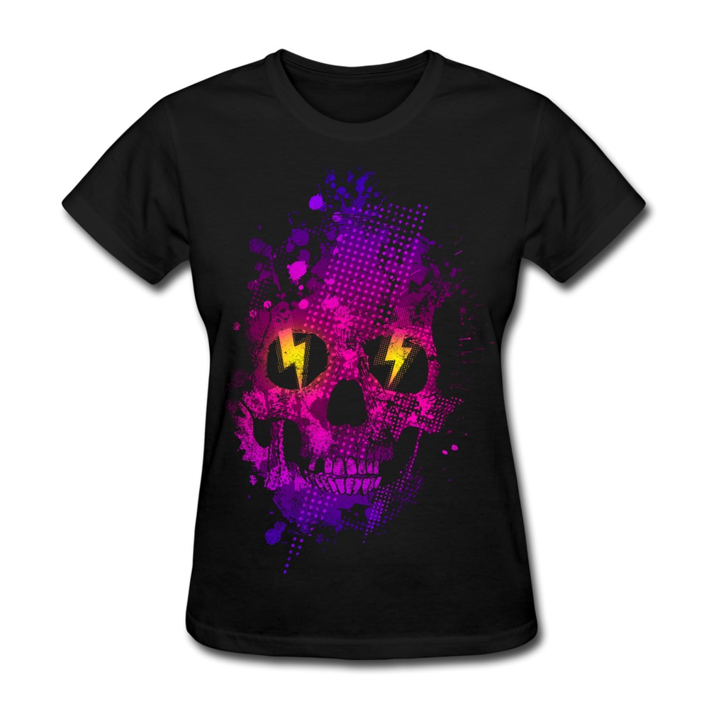 Solid t shirt womens skull t shirt custom funny icons for Cheap custom t shirts for one