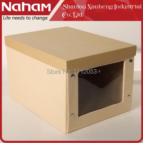 NAHAM Free Shipping Elegant Foldable Cardboard shoe box wholesale(China (Mainland))