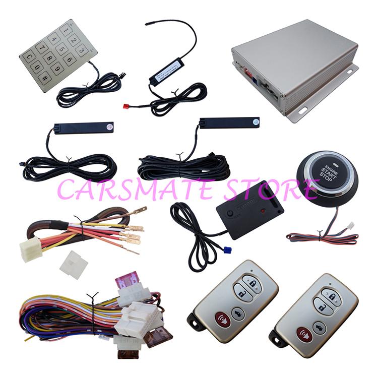 Top Hopping Code Intelligent PKE Car Alarm System With Vibration Sensor Remote Start Automatic Lock&Unlock Passive Keyless Entry(China (Mainland))