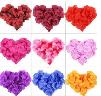 Бесплатная доставка 21 цветов 100 шт./лот искусственный свадебный лепестки роз свадебных центральные украшение новогоднее украшение
