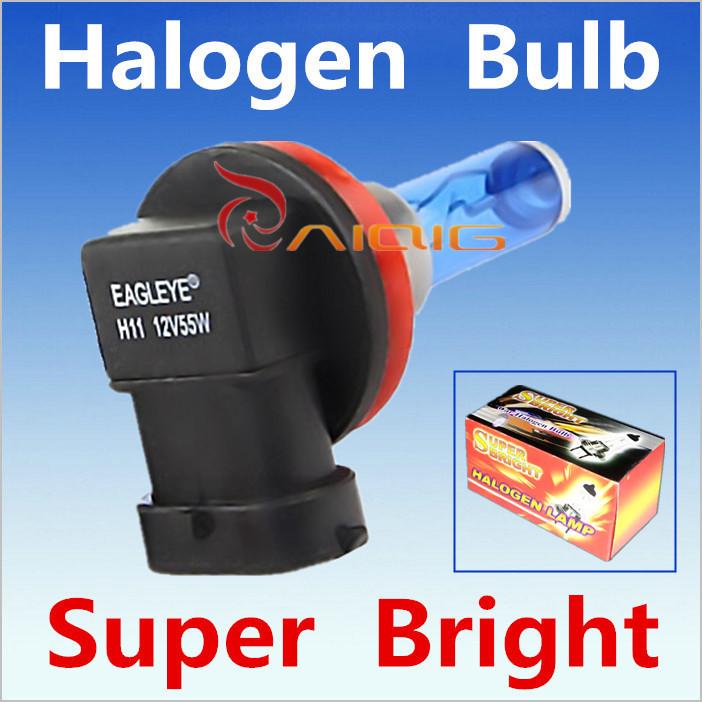 2pcs H11 55W 12V Super White Halogen Bulb Fog Lights High Power Car Headlights Lamp Car