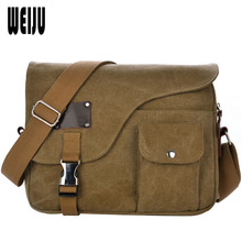 WEIJU New 2017 Men Messenger Bags Fashion Vintage Casual Canvas Shoulder Bag Multifunction High Quality Men Bags YA0490(China (Mainland))
