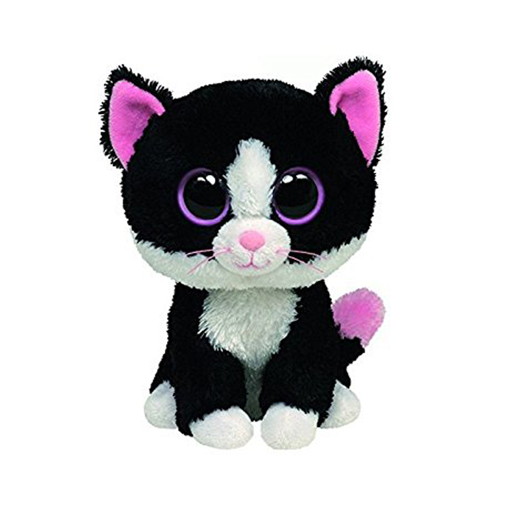 """Pyoopeo Ty Beanie Boos 6"""" Pepper the Cat Beanie Baby Plush Stuffed Doll Toy Collectible Soft Toys Big Eyes Plush Toys(China (Mainland))"""