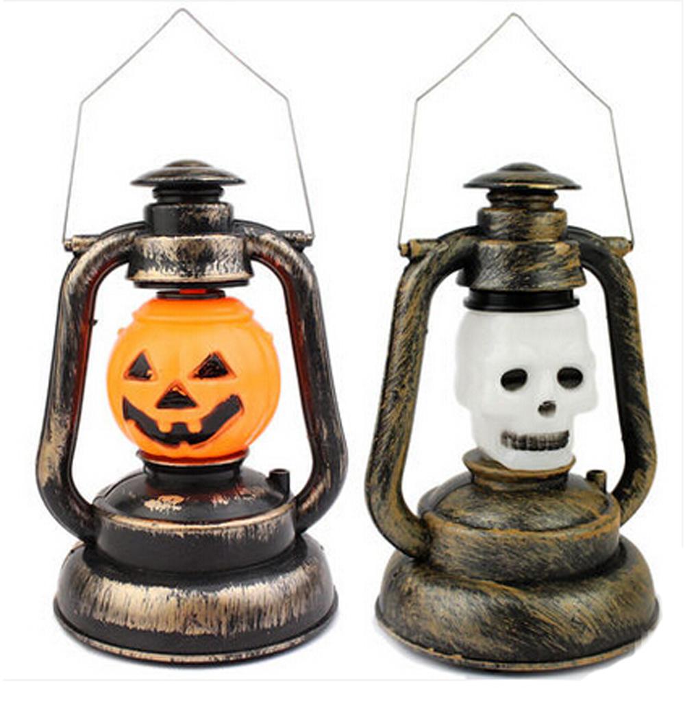 Ghost Head lantern LED Lamp Light Halloween Christmas Wine Bar KTV Decoration Props Skull Head Style(China (Mainland))