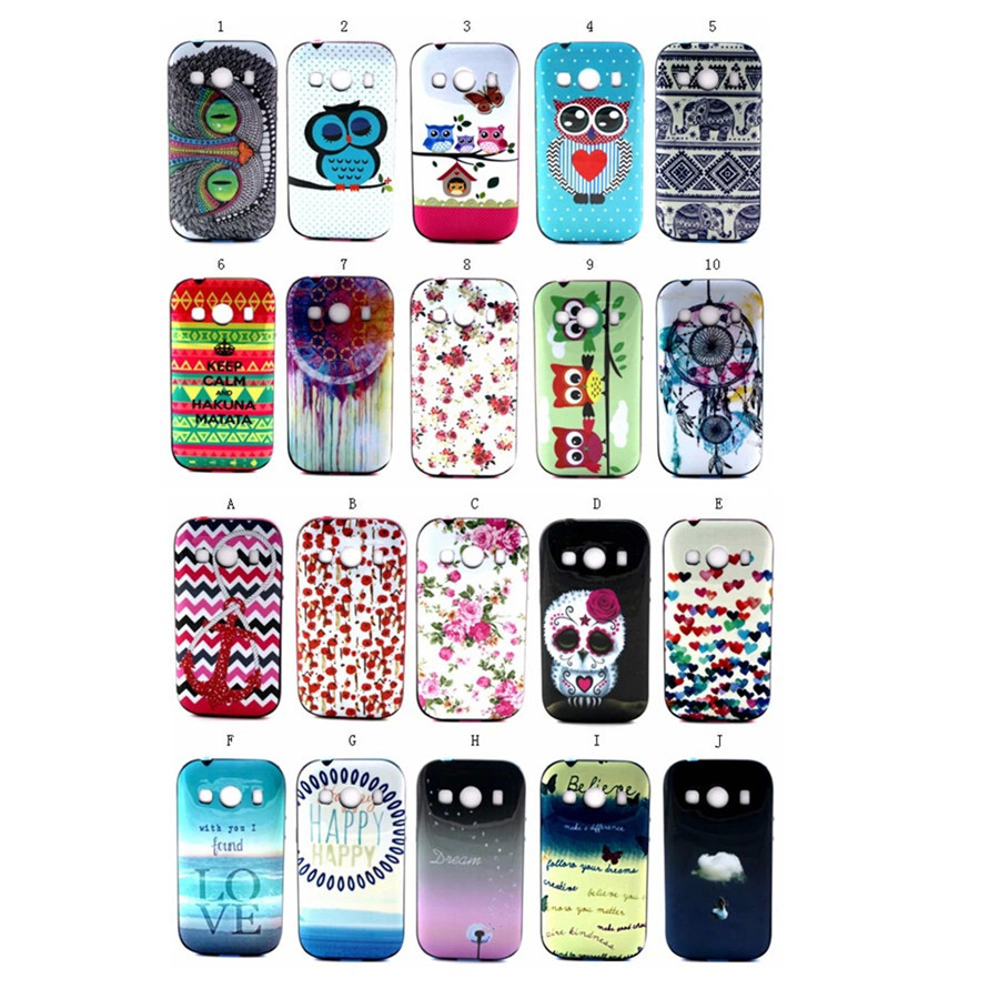 Neo Colorful Painting Hybrid Cover For Samsung Galaxy Ace 4 Ace4 / Ace Style LTE G357FZ Phone Plastic Bag Cases Covers(China (Mainland))