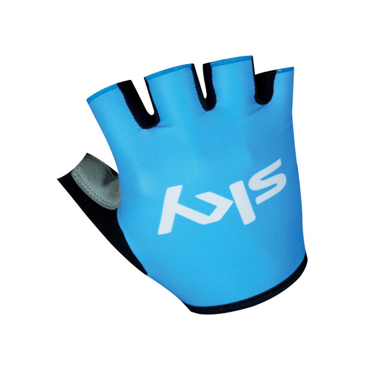2016 New Arrive ! High Quality Half Finger Cycling Gloves SKY Blue Red Blue Riding Glove Anti-skid Breathable Free Shipping(China (Mainland))