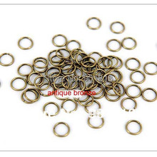 5mm 200pcs bag wholesale gunblack Gold Silver Bronze rose gold Rhodium Tone Jump Rings jewelry making