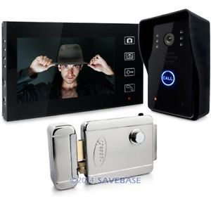 "HOMSECUR Door Phone Doorbell Intercom System 2.4G Wireless 7"" Color Lcd Electronic Lock(China (Mainland))"
