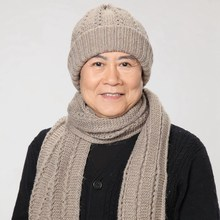 Hat scarf twinset quinquagenarian hat male autumn and winter warm rabbit wool hat cap new brand father's year gift knit twinset(China (Mainland))