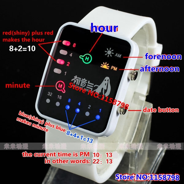 Fairy Tail Game Fashion Binary System Wristwatches Led Wrist Watch Drop Shipping Electronic Watch(China (Mainland))