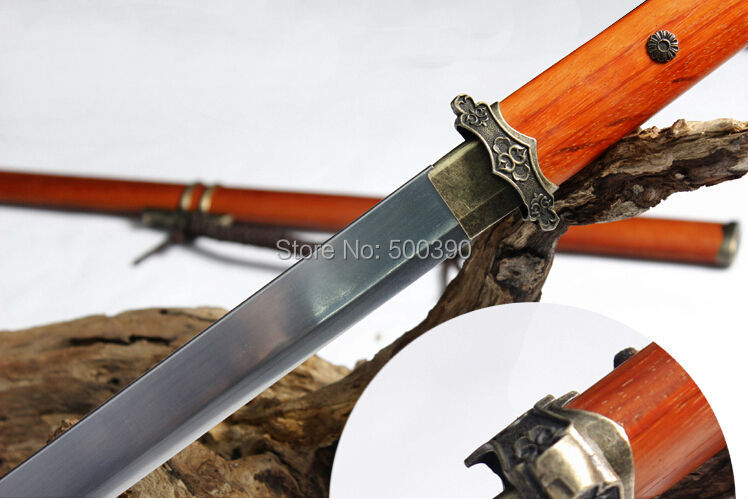 Full Tang Manganese Steel Razor Sharp Battle Ready Hand Forged Chinese Tang Sword(China (Mainland))