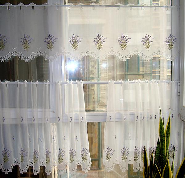 Translucidus fen tre voile rideau avec lavande broderie for La maison des rideaux