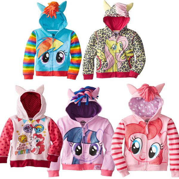 2015 новый Торговый девочек мальчиков little pony zip толстовки, куртки пальто милый ...